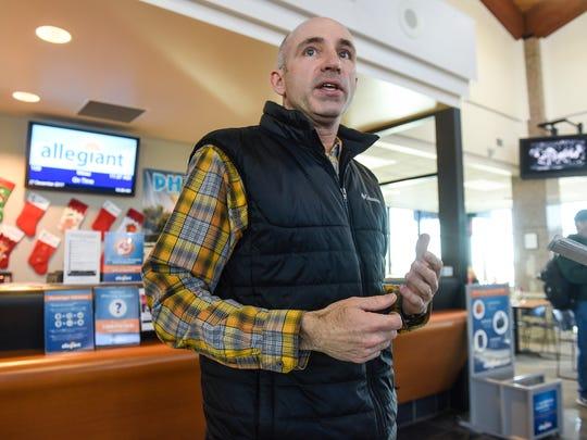 St. Cloud Regional Airport Director Bill Towle talks about the airport's plans for handling increased air traffic during the Super Bowl in Minneapolis during an interview Wednesday, Dec. 27, in St. Cloud.