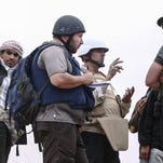 A man militants claim is journalist Steven Sotloff is shown in a video.