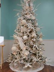 Polar Bear Tree designed by Kim Zastenik for the 2015 Tykes & Tens Festival of Trees and Lights