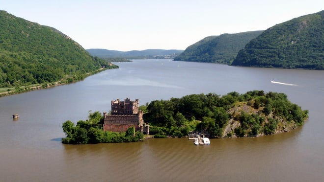 An aerial view of Bannerman's Island looking south.