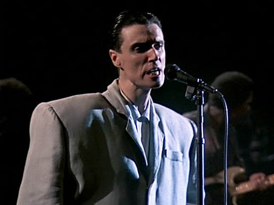 David Byrne of the Talking Heads in a scene from the 1984 Jonathan Demme documentary 'Stop Making Sense.'