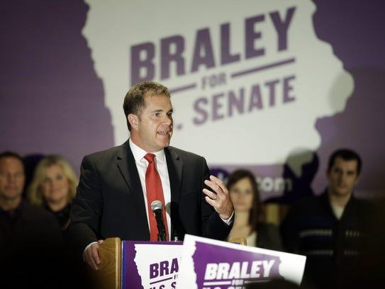Democratic Senate candidate U.S. Rep. Bruce Braley