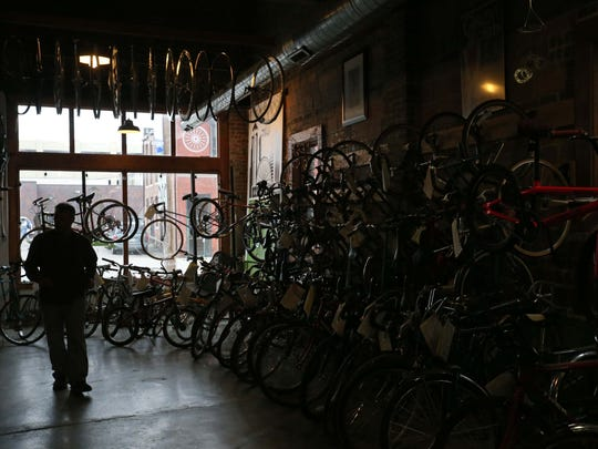 Dan Baldi, a manager at the Des Moines Bike Collective,