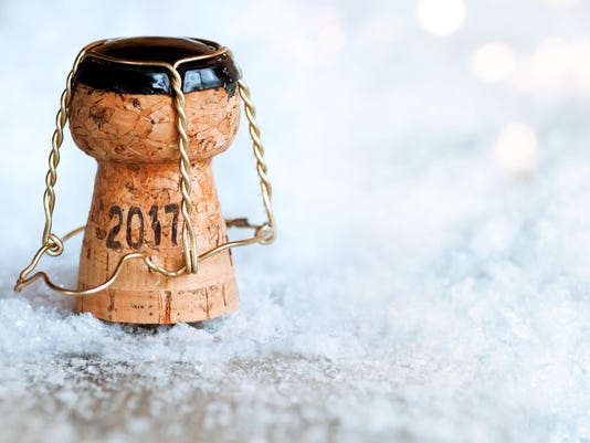 New Year 2017 with a champagne cork