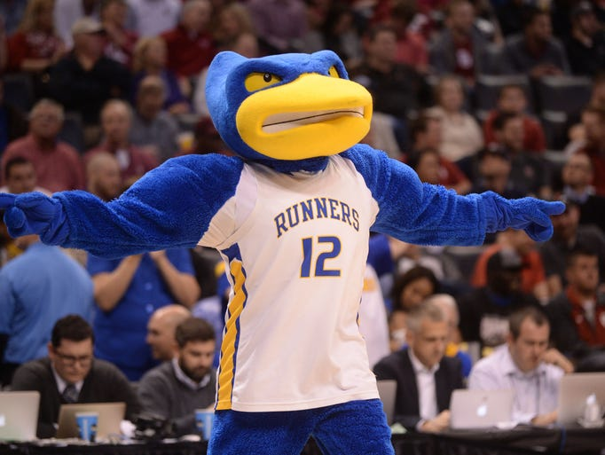 NCAA tournament mascots in action