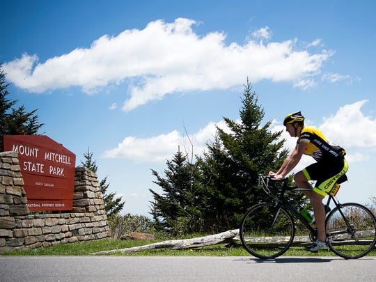Hundreds of cyclists took on the 102.7-mile self-paced ride called the Assault on Mount Mitchell last year. The 43rd annual ride from Spartanburg, South Carolina, to the summit of Mount Mitchell is set for May 14, 2018.