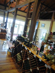 Shade Mountain has a tasting room and deck for guests