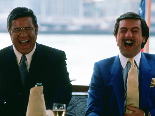 Jerry Lewis, left, and Robert De Niro teamed up for