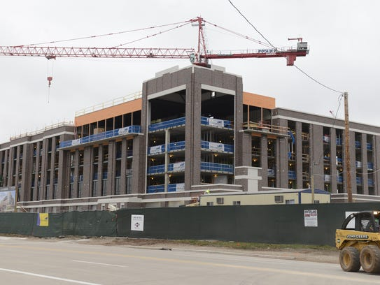Progress continues on the Lodge Kohler hotel in the