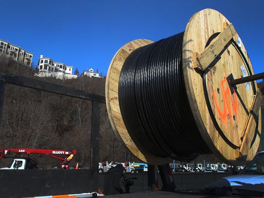United Fiber & Data's fiber-optic line was installed inside a manhole in Weehawken, New Jersey in 2016 bringing the telecom company's broadband infrastructure underneath the Hudson River.