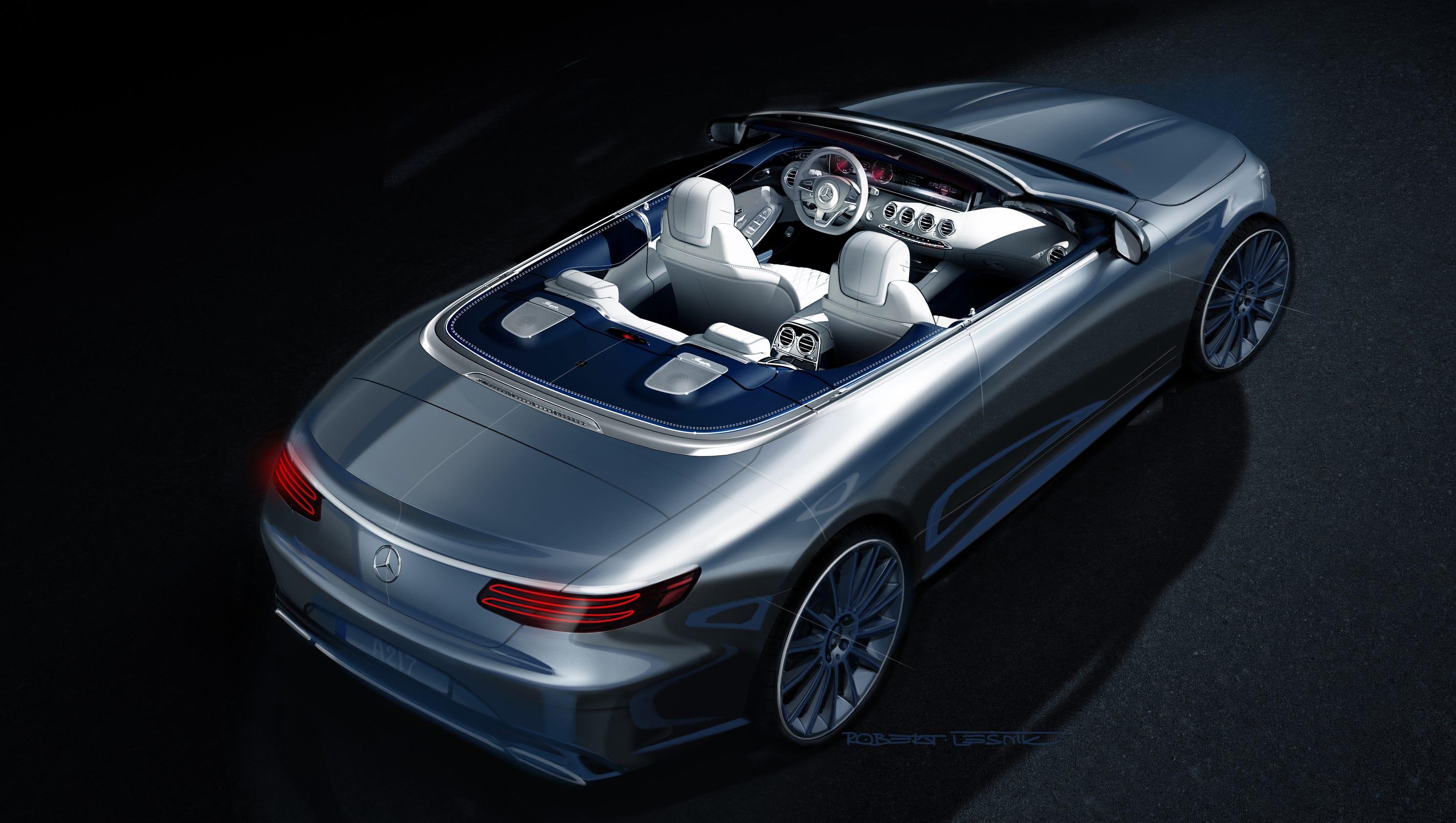 Mercedes benz shows sketch of topless s class for Mercedes benz a class usa
