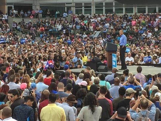 President Obama speaks in Kissimmee on Sunday.