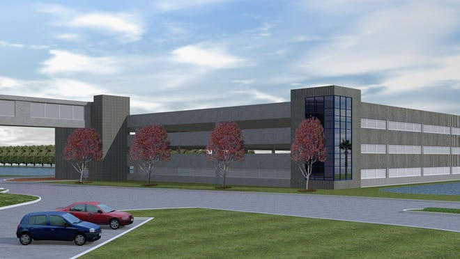 Artist's rendering of the expansion of the Space Coast Credit Union headquarters