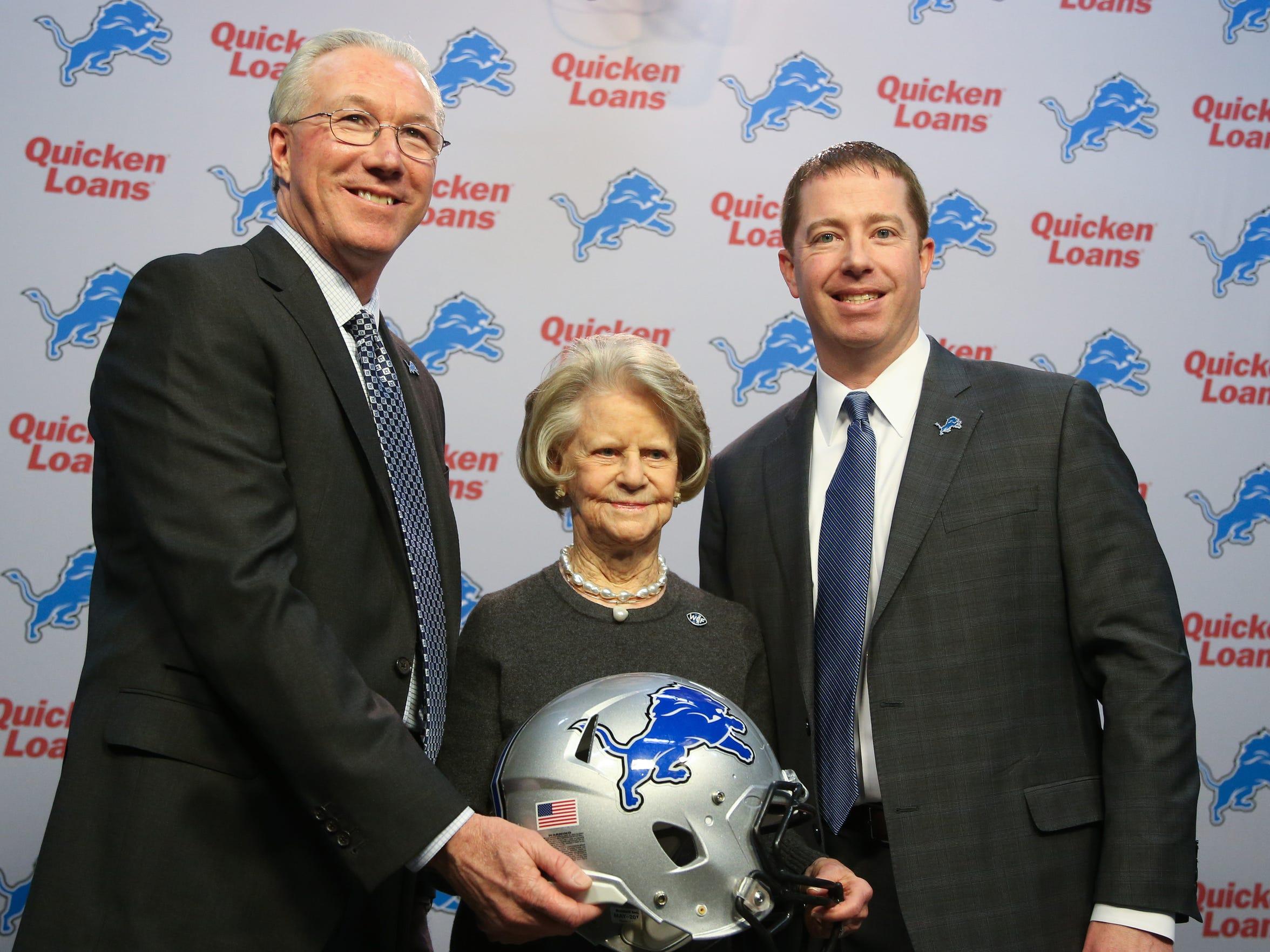 Lions president Rob Wood, owner Martha Firestone Ford