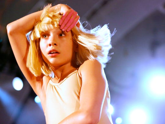 Maddie Ziegler dances to Sia's performance at CBS Radio's