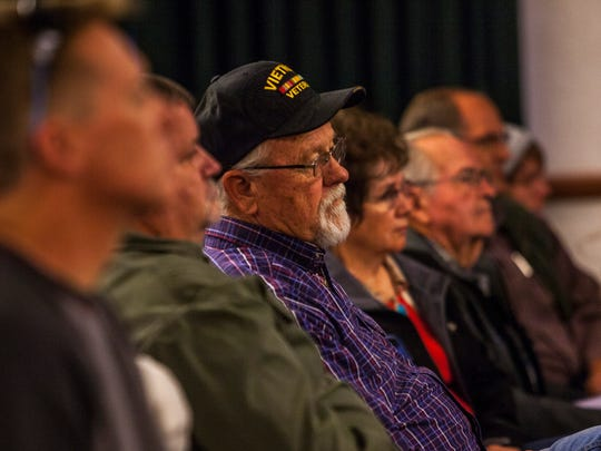 People listen to presentation during the Western Rangelands Property Rights Workshop at the Heritage Center in Cedar City, Saturday, Jan. 23, 2016.