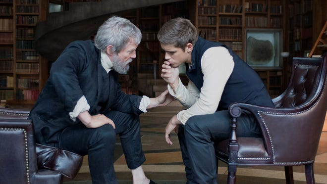 "Jeff Bridges, left, and Brenton Thwaites star in ""The Giver."""
