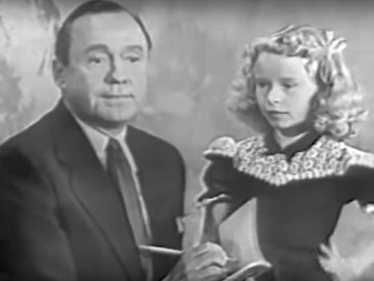 9 year old Beverly Washburn on Jack Benny's TV show in 1952.