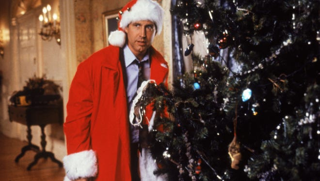 "Chevy Chase in a scene from the motion picture ""National Lampoon's Christmas Vacation."""