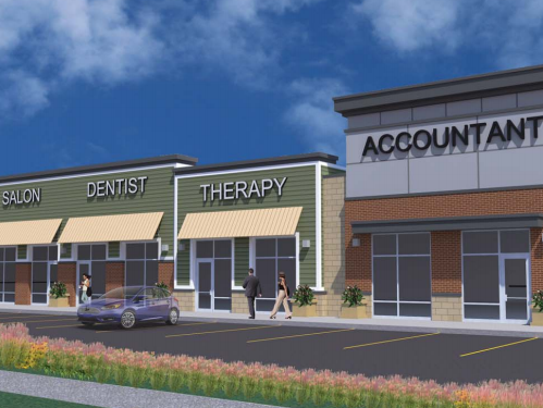 artist rendering of what one of the three commercial