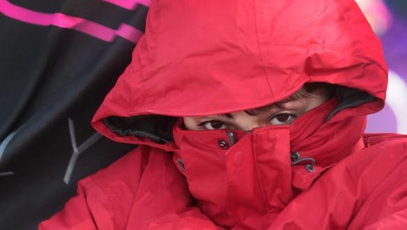 People in Indianapolis are bundling up because of the freezing cold temperatures on Tuesday.