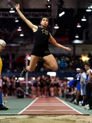 Paramus Catholic's Tiffany Bautista competes in long
