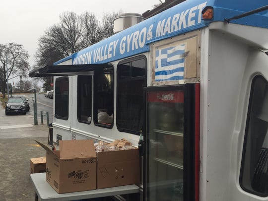Hudson Valley Gyro & Market owner Paul Kastanis worked
