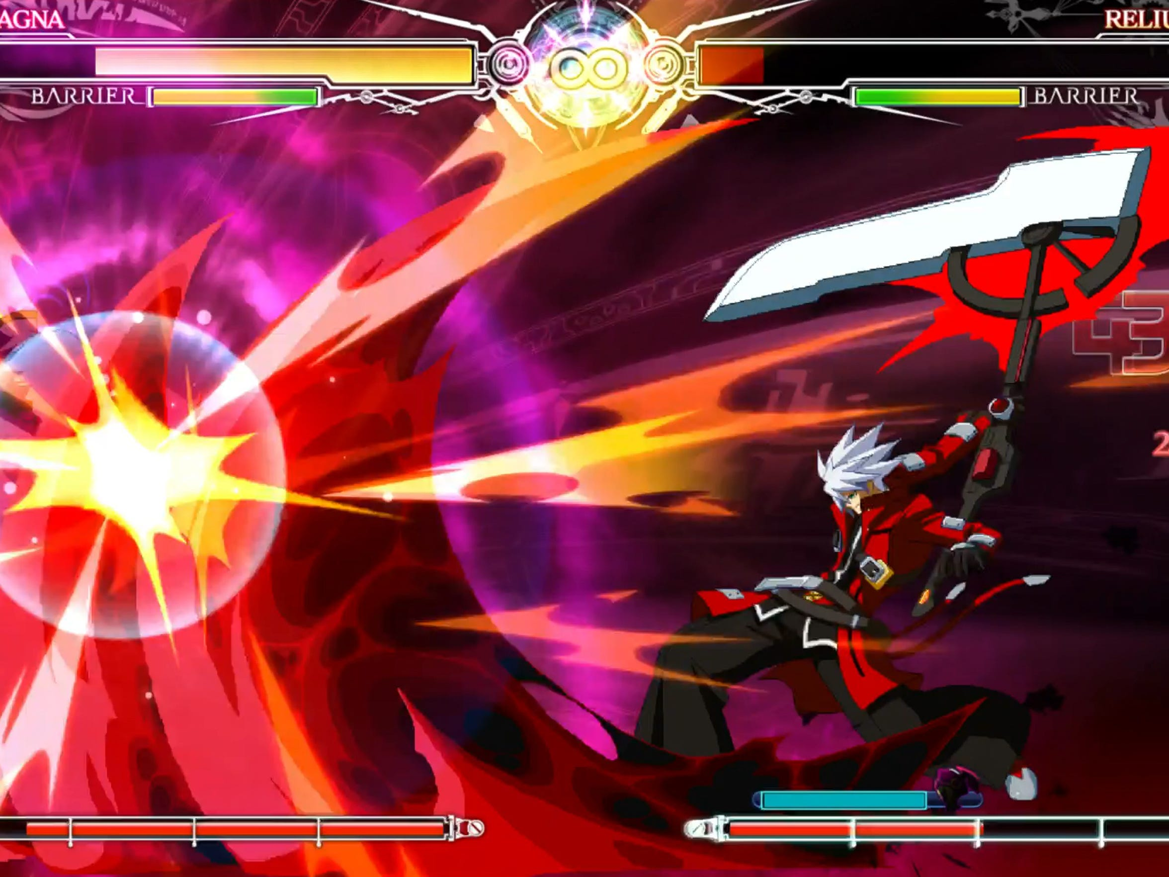 """Ragna the Bloodedge's story reaches its climax in """"BlazBlue:"""