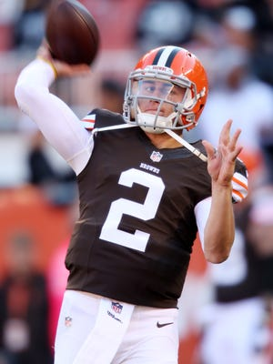 Cleveland's Johnny Manziel is  the only quarterback drafted in the first round in 2014 who hasn't yet  started.