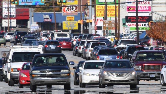 Traffic on Clemson Boulevard near the Anderson Mall was bumper to bumper during Black Friday last year.