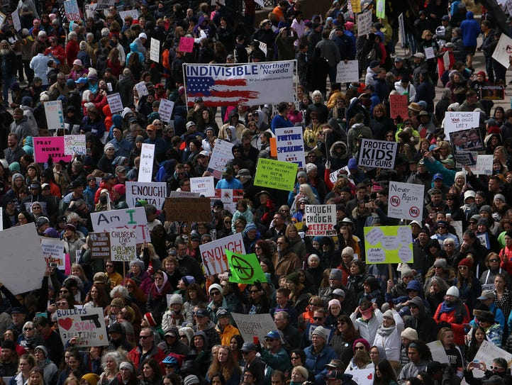 Thousands gather for the March For Life rally in Reno