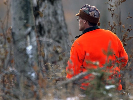 A hunter in the woods.