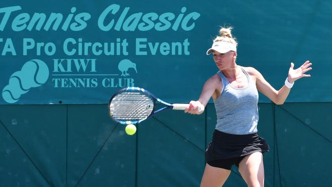 Olga wins the Revolution Technologies Pro Tennis Classic finals. Action from the Amanda Anisimova vs. Olga Govortsova final single match at Kiwi Tennis Club.