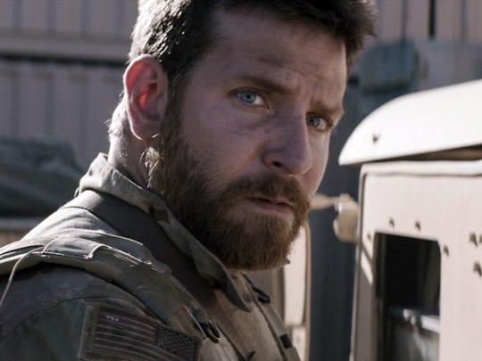 """Bradley Cooper as sharpshooter Chris Kyle in """"American"""