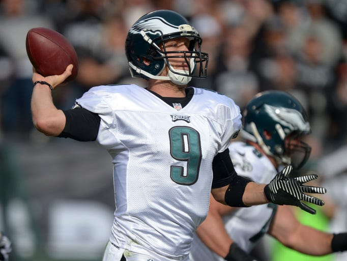 Eagles quarterback Nick Foles threw for 10 touchdowns with no picks in his last two games. Tom Brady (2007) is the only other player to do that in a two-game span in a single season. Foles is just the third player after Peyton Manning (2013) and Milt Plum (1960) to begin a season with 16 touchdown passes and no interceptions.