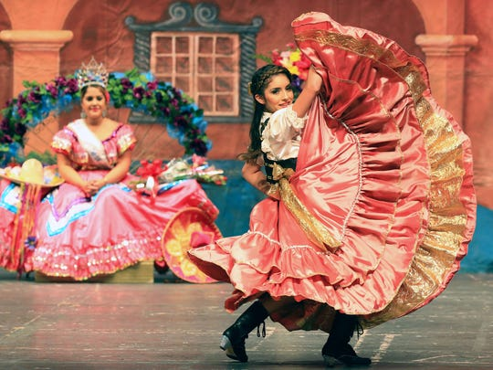 Lucero Guerrero-Saenz performs during the 57th annual Feria de las Flores on Saturday, July 30, 2016, at American Bank Center in Corpus Christi.