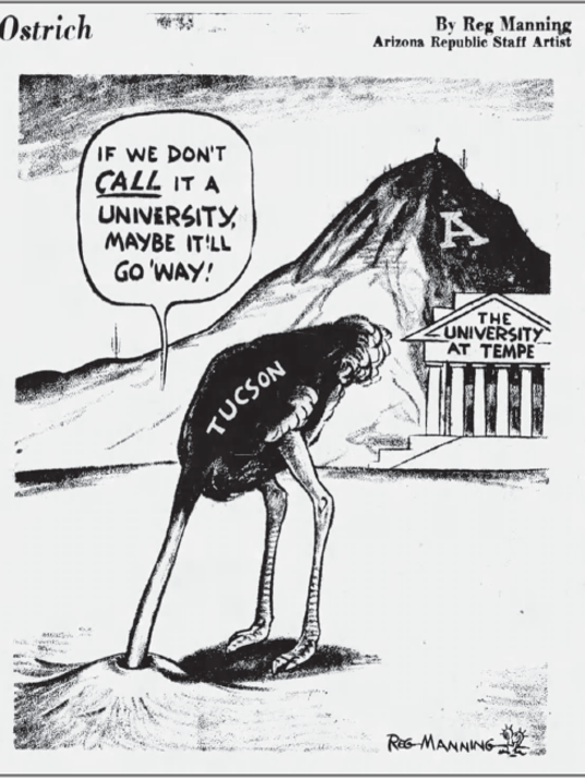 Reg Manning Ostrich cartoon