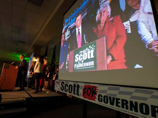 Lt. Gov. Phil Scott announces his candidacy for governor in South Burlington on Tuesday.