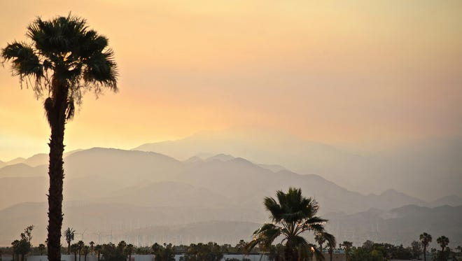 The National Weather Service has issued a fire weather warning for parts of the Coachella Valley for Sunday and Monday.
