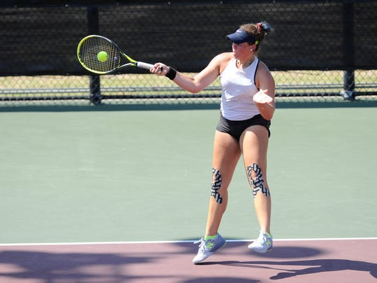 Flour Bluff's Femke Tjon-A-Joe will play in the Class 5A girls singles final on Friday, May 18, 2018 at the George P. Mitchell Tennis Center in College Station.