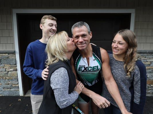 Ironman triathlete, David Musicant suffered a serious accident in 2015 while biking on Skyline Dr. in Ringwood. After surgeries, skin grafts and a traumatic brain injury he is back to biking and has started a fund to help other victims of brain trauma.
