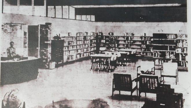 Photo from Salinas Californian of opening of El Gabilan library.