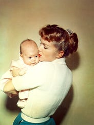 Debbie Reynolds and baby Carrie Fisher are featured