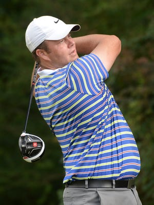 Brad Petree tees off from 7 during day two play of the 2016 Shreveport City Am at the Huntington Park Golf Course.