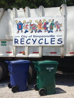 The City of Simpsonville is currently looking for a new recycling partner.
