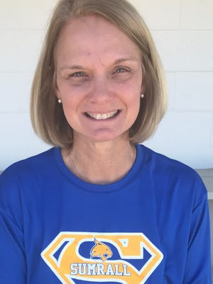 Sumrall assistant basketball coach and head softball coach Dodie Robertson.
