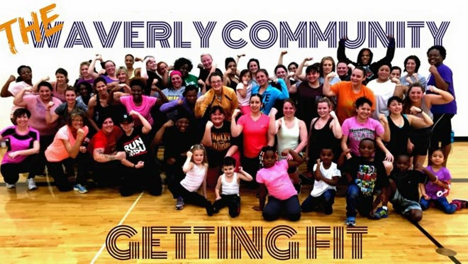 "The ""Waverly Warrior Takeover"" community fitness group, which meets Tuesdays and Thursdays at the Waverly High School auxiliary gym."