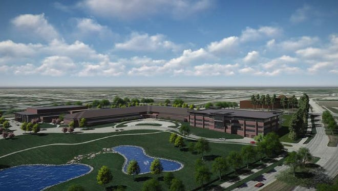 An illustrative rendering of the minimum requirements Hy-Vee must meet to get $1.3 million in tax rebates from the city of West Des Moines.