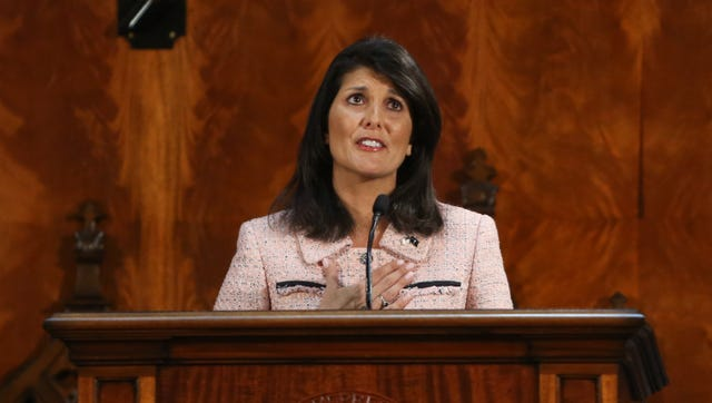 South Carolina Governor Nikki Haley is upset at Lt. Gov. Henry McMaster over his ruling on an ethics bill.