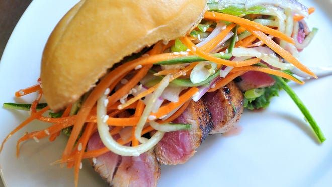 An Ahi tuna filet sandwich at Hiawatha Restaurant and Lounge in Wausau.